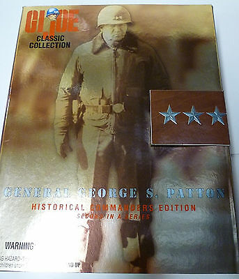 General Patton GI Joe 12 Inch US Army Hasbro Toys 1997 New from Factory Case