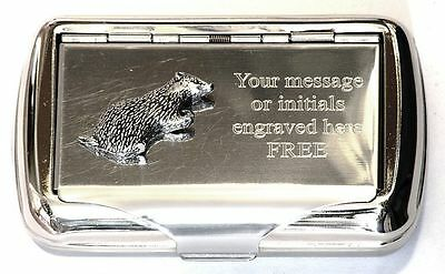 Badger Tobacco Roll Up Cigarette Tobacco Tin British Countryside Nature Gift 016