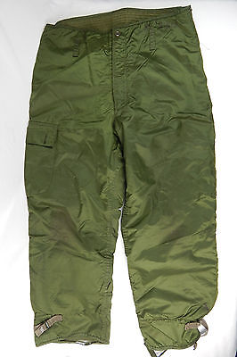 """US Military Extreme Cold weather trousers / Pants Large 35-38"""" Impermeable"""