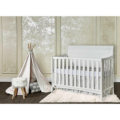 Dream On Me Bailey 5-in-1 Convertible Crib - White
