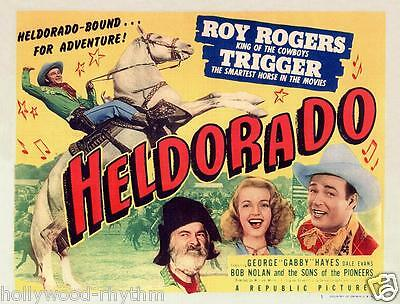 ROY ROGERS With DALE EVANS And GABBY HAYES In HELDORADO 11x14 CC Print 1946