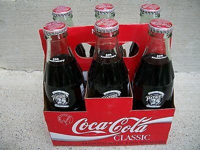 6 Pack 1993 San Diego Padres 8Oz Full Coke Coca Cola Bottles + Carrier