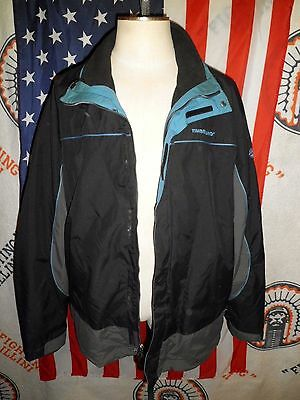 Mens Timberland Weathergear Black Winter Jacket Removable Liner XL winter ski