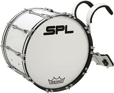 Sound Percussion Labs Birch Marching Bass Drum 26x14 White