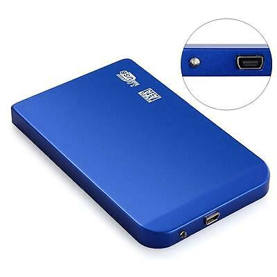 2.5 Inch Hard Drive Case SATA HDD SSD Protection USB 2.0 Blue
