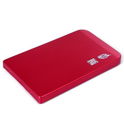 External 2.5 Inch Hard Drive Case Enclosure SATA HDD SSD USB 2.0 Red