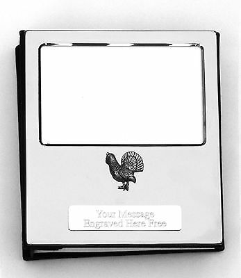 Capercaillie Design Silver Personalised Photo Album FREE ENGRAVING 100 Photos