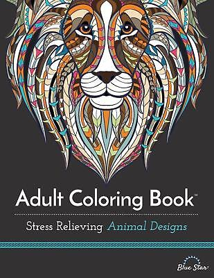 Animal Designs Adult Colouring Book Art Therapy Anti Stress Relaxing Creative