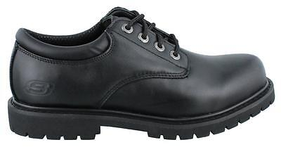 Skechers Cottonwood Elks Lace Up  Shoe Leather Mens Work And Uniform Shoes