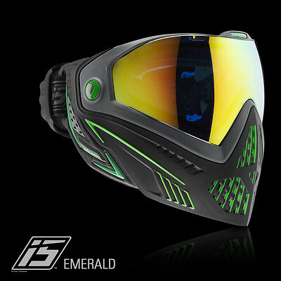 Dye I5 Pro EMERALD black lime Thermalmaske Paintball Airsoft Softair Goggle 1963