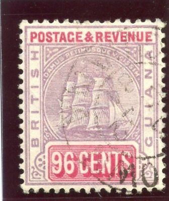 British Guiana 1889 QV 96c dull purple & rosine very fine used. SG 206. Sc 147a.