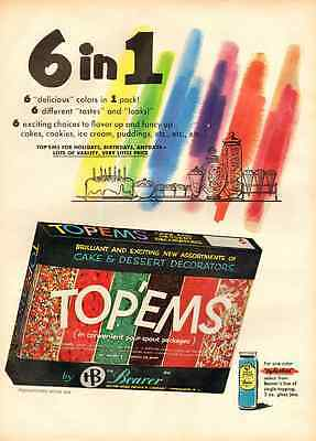 "1959 vintage ad for 'Top-Ems"" Cake Decoration-467"