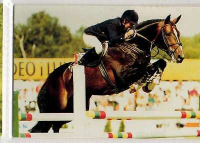 #195 maria gretzer SWE - jump equestrian collector card