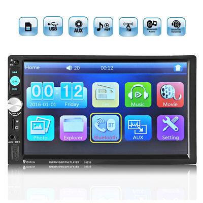 HD 7Inch Touch LCD 2DIN Car Radio Stereo MP3 Player Bluetooth AUX SD FM USB  MP5