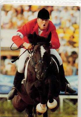 #197 jan tops NED - jumping - equestrian collector card
