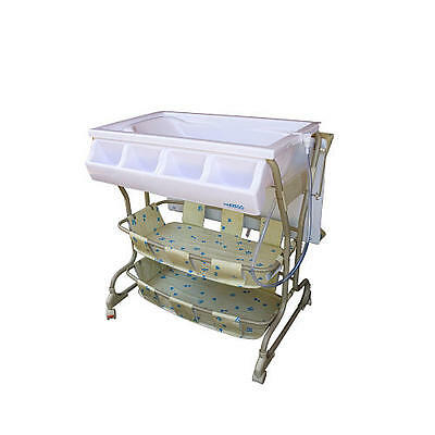 Baby Diego Bathinette Baby Bath & Changing Table With Wheels Combo - Beige