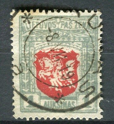 LITHUANIA;    1918 early first issue type fine used 1a. value