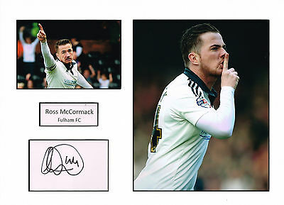 Ross McCORMACK SIGNED Autograph 16x12 Mounted Card AFTAL COA Fulham