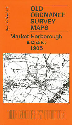 Old Ordnance Survey Map Market Harborough & District 1905