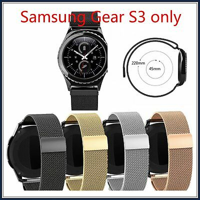 New Milanese Black Magnetic Stainless Loop Samsung Gear S3 Frontier / Classic