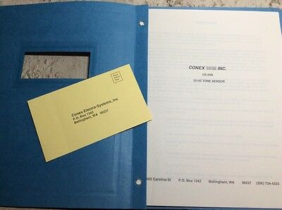 RADIO & SATELLITE Conex CS-25B 25HZ TONE SENSOR SERVICE/USERS MANUAL (my lot#66)