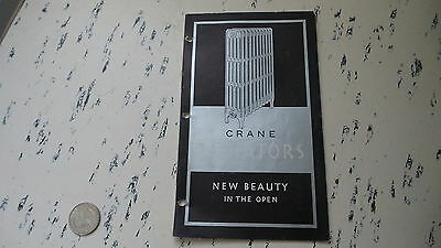 Antique 1931 Catalog CRANE RADIATORS, NEW BEAUTY IN THE OPEN Radiator, Heater