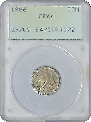 1886 Three Cent Nickel PR64 PCGS Proof 64