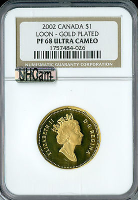 2002 CANADA $1 22k GOLD LOON NGC MAC PF-68 UHCAM 2ND FINEST GRADED SPOTLESS  *