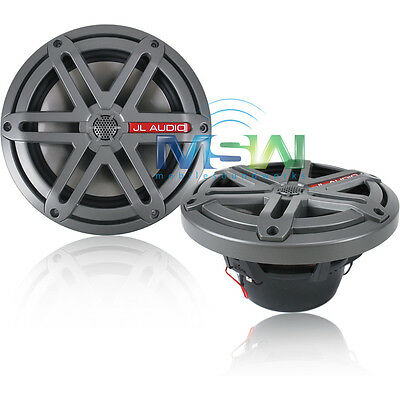 "NEW JL AUDIO MX770-CCX-SG-TB 7.7"" 2-Way MARINE COAXIAL SPEAKERS w/ SPORT GRILLS"