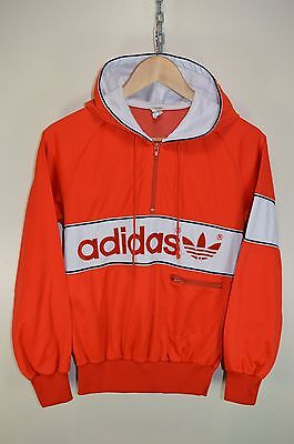 vtg 80s ADIDAS NEW YORK HOODIE TRACK JACKET TRACKSUIT TOP CASUALS size SMALL