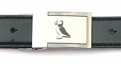 Puffin Enamel Belt Buckle n Leather Belt in Gift Tin Ideal Wildlife Present 289