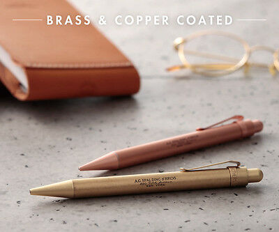 A.G. Spalding &Bros BRASS or COPPER Ballpoint Pen or Mechanical Pencil 0.5mm