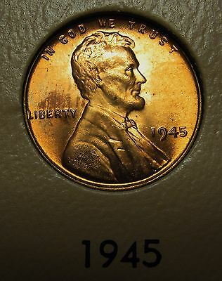 1945 Lincoln Wheat Cent in the CH BU Range Nice Coins DUTCH AUCTION