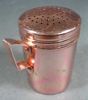Retro 60s-70s pink anodised salt/castor sugar shaker -Hong Kong kitchenalia
