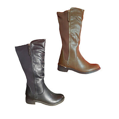 Ladies Boots No Shoes Silvia Black or Taupe Boot Elastic Back 3//4 Length 6-11