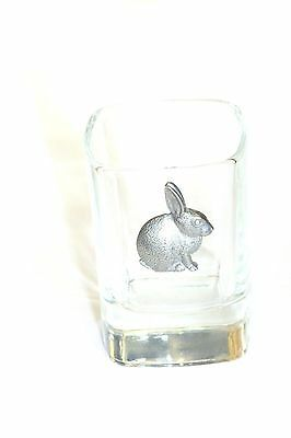 Pewter Rabbit  on Crystal Shot Tot Glass Cup Ideal  Gift