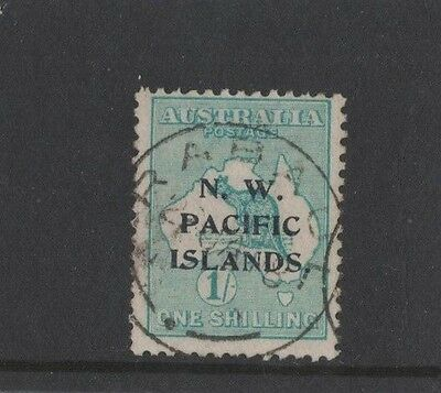 1915 North West Pacific Islands Roo 1/- green SG 81 second wmk fine used