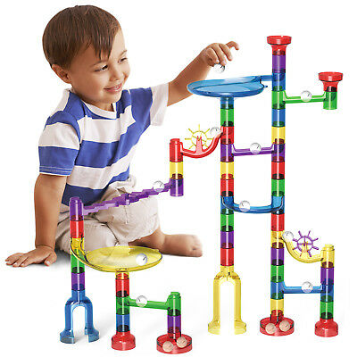 105pcs DIY Marble Race Run Maze Building Blocks Tower Game Kids Child Toy Gift