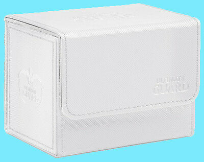 ULTIMATE GUARD XENOSKIN WHITE SIDEWINDER 80+ DECK CASE Side Loading Card Box MTG