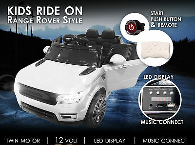 Range Rover Style Suv 70W Motor 12V Battery Eva Tyre Kids Ride On Car White