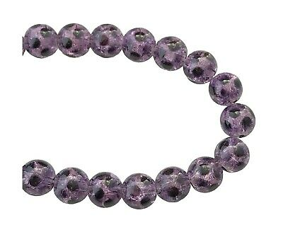 """Sold on 16/"""" Strand 8mm Round Glass Pearl Beads Lavender Purple J56"""