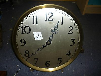 Art Deco Grandfather Clock 3 Weight Driven Chimeing Movement+Dial (61)