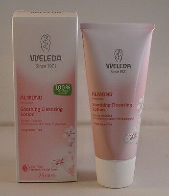 Weleda Almond Sensitive Soothing Cleansing Lotion 75ml. Two Bottles