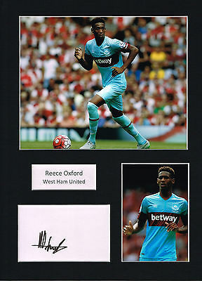 Reece OXFORD SIGNED Autograph 16x12 Mounted Card AFTAL COA West Ham United