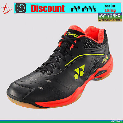 Yonex Badminton Shoe - Shb 75Ex - Black/yellow - Comfort And Lightweight