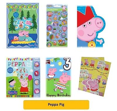 PEPPA PIG/GEORGE - Colouring Stickers Gift Wrap Tags Bags Kids Party Gift Xmas