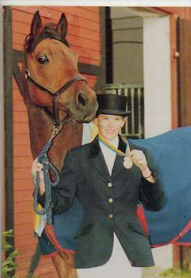 #217 frida pettersson SWE - d equestrian collector card