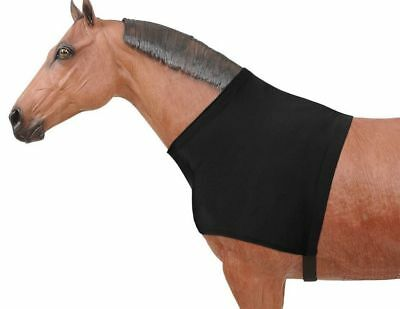 Tough-1 Neck Cover Mane Stay Spandex Shoulder Guard Black 34-7010