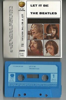 "THE BEATLES ""Let It Be"" Germany Musikkassette/Tape EMI 1C 244-04 433"