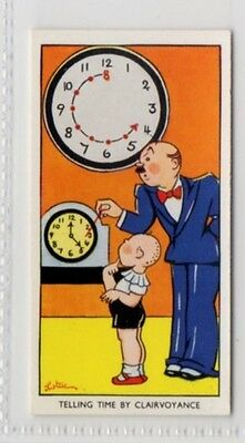 #22 Telling Time By Clairvoyance - Amusing Tricks & How To Do Them Card